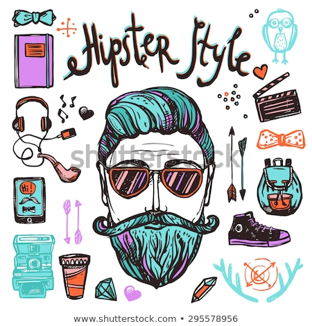 Sketch hipster attributes Stock photo © netkov1