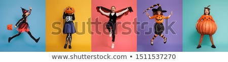 Weinig dracula roze gelukkig halloween cute Stockfoto © choreograph