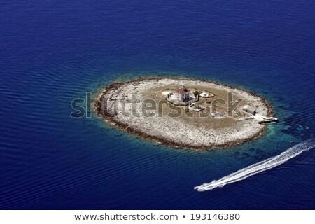 одиноко острове Маяк Хорватия пляж Сток-фото © xbrchx