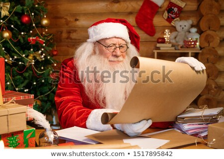 christmas · geschenk · vergadering · tabel · boom · vak - stockfoto © pressmaster
