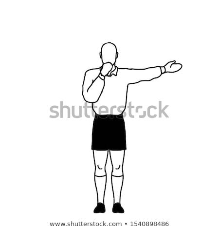 Rugby arbiter kara kierować wolna kopać Zdjęcia stock © patrimonio