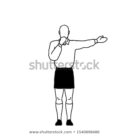 Rugby Referee penalty Direct Free Kick Signal Drawing Retro Stock photo © patrimonio