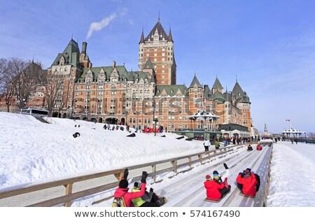 зима Квебек город Канада здании отель Сток-фото © Lopolo