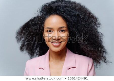 Közelkép portré boldog fürtös jómódú üzlet Stock fotó © vkstudio