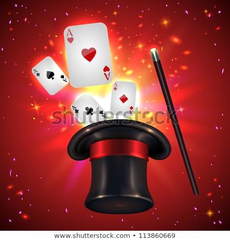 Play Card in Top Hat Magic Trick Stock photo © Dazdraperma