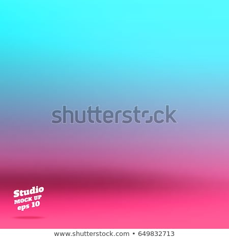 vibrant turquoise blue interior design background with pink chair and plant Stock photo © arquiplay77