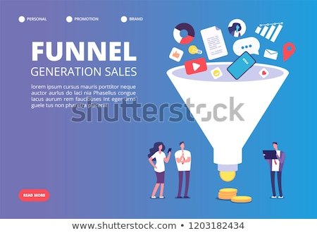 Sales funnel vector concept metaphor. Stock photo © RAStudio