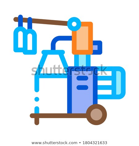 Melk fles overdragen machine icon vector Stockfoto © pikepicture