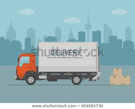 Vehículo entrega transporte vector carga Foto stock © robuart