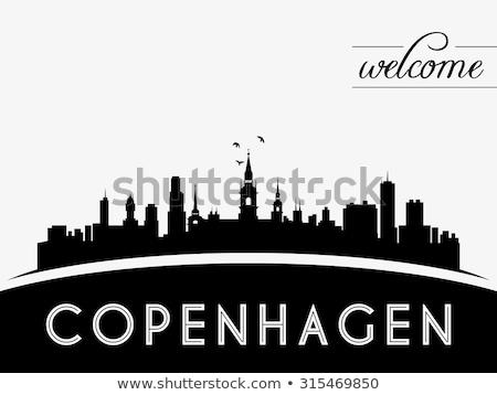 Abstrato Copenhague linha do horizonte cor turismo Foto stock © ShustrikS