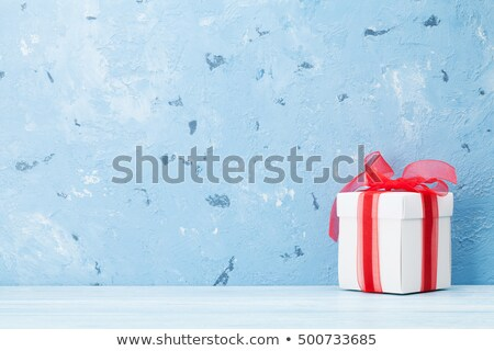 Ahşap masa taş duvar bo ürün göstermek doku Stok fotoğraf © karandaev