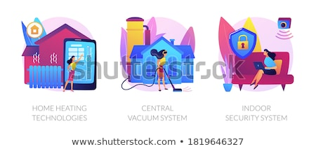 Otthon fűtés technológiák absztrakt okos ház Stock fotó © RAStudio