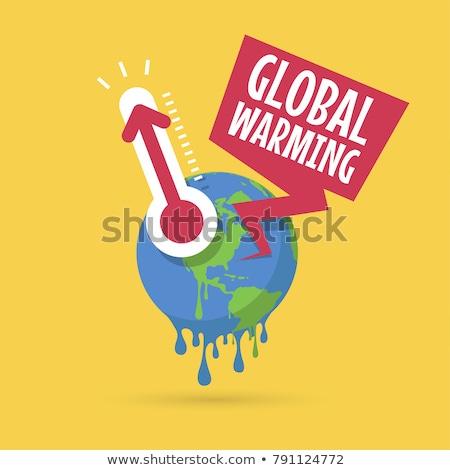 Küresel isınma soyut çevre kirlenme global ısıtma Stok fotoğraf © RAStudio