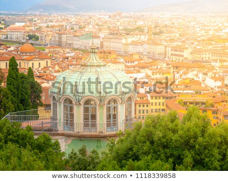 Florence - the roof of the pavilion in the Gardens of Boboli Stock photo © wjarek