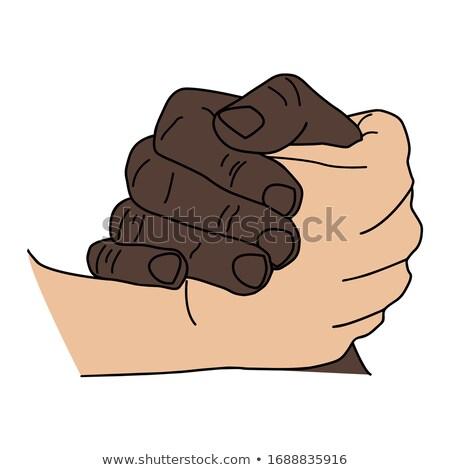 El sıkışma işkadını el sıkışmak erkek müşteri yalıtılmış Stok fotoğraf © rcarner