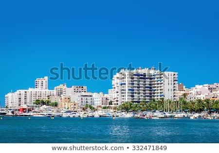 Marina tekneler plaj su şehir yaz Stok fotoğraf © lunamarina