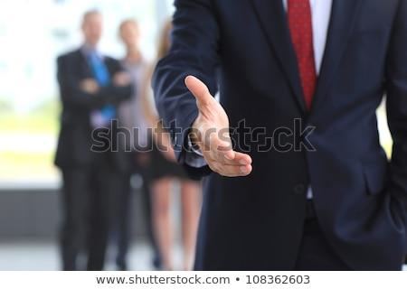 Iş adamı hazır sallamak ofis adam işçi Stok fotoğraf © pdimages