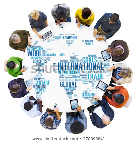 ストックフォト: ビジネスの方々 · インターネット · 地図 · 地球 · 点数