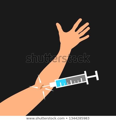 Enjeksiyon ilaç damar görüntü soyut tıbbi Stok fotoğraf © photocreo