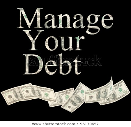 manage your credit isolated words with american notes stock photo © ansonstock