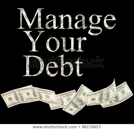 Stock fotó: Kredit · izolált · szavak · amerikai · jegyzetek · üzlet