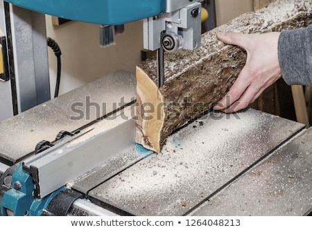 carpenter using band saw stock photo © photography33
