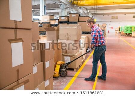 工場労働者 段ボール ボックス ビジネス 作業 フレーム ストックフォト © photography33