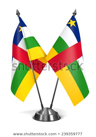 Miniature Flag of Central Africa (Isolated) Stock photo © bosphorus