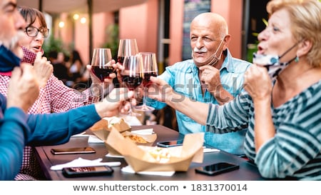 Old couple in restaurant Stock photo © photography33