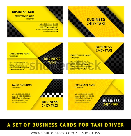 Business card taxi - first set Stock photo © Ecelop