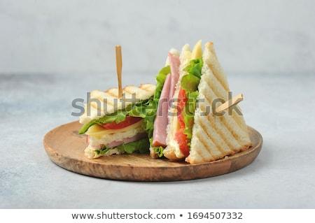 sandviç · peynir · pırasa · gıda · sağlık · kahvaltı - stok fotoğraf © zhekos