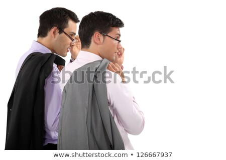 duo of young businessmen with glasses lowered Stock photo © photography33