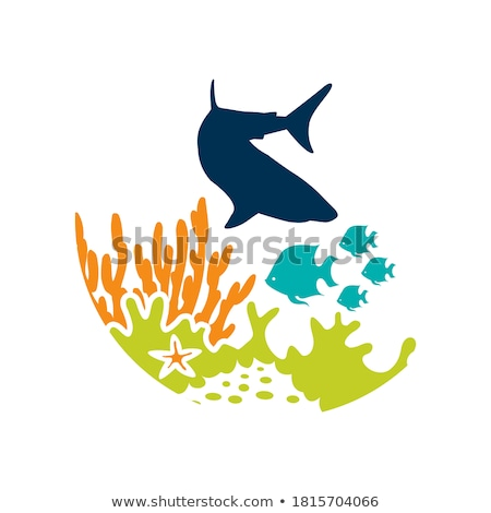 тропические рыбы прыжки художественный океана иллюстрация Сток-фото © ajlber