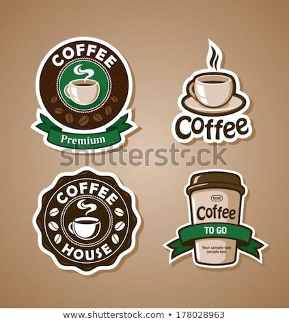 кофе набор чашку кофе бобов продовольствие ресторан Сток-фото © smoki