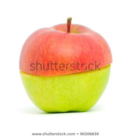 An apple made from half green and half red Stock photo © bloodua