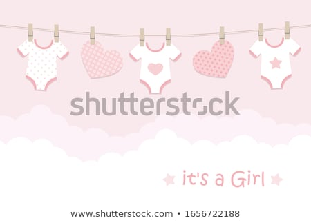 new baby announcement card stock photo © balasoiu
