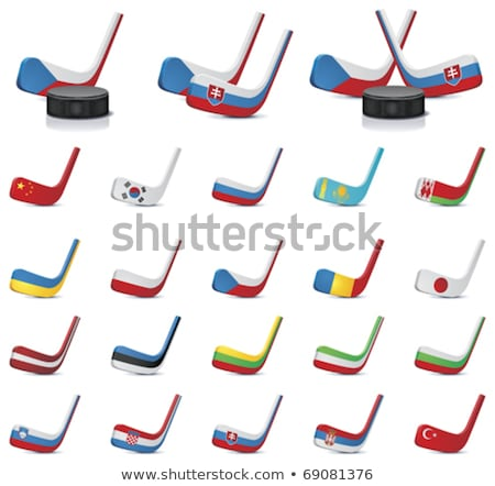 Hockey colours of Estonia Stock photo © perysty