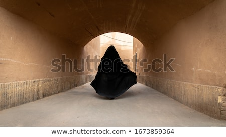 woman in yazd iran old city street traditional architecture Stock photo © travelphotography