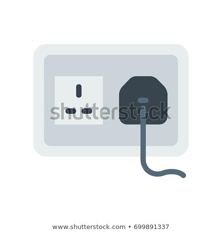 Presa plug illustrazione bianco tecnologia metal Foto d'archivio © perysty
