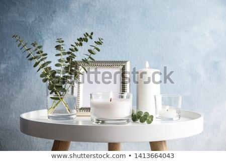 Kokulu mumlar yalıtılmış beyaz mum Asya Stok fotoğraf © kitch