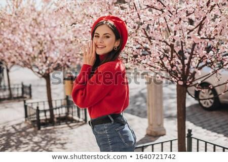 red hat anf flowers Stock photo © carlodapino