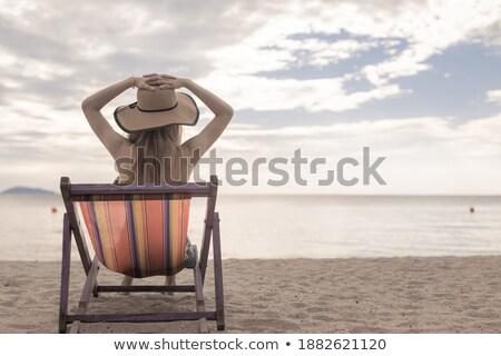 hot girl in blue bonnet stock photo © acidgrey