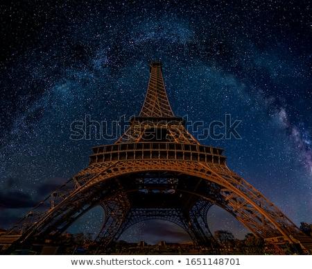 Csillagok Párizs sziluett pár forma szív Stock fotó © oksanika