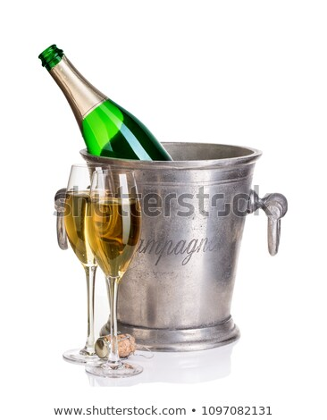 Champagne green cooler isolated on white Stock photo © shutswis