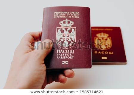 Serbian passport Stock photo © nessokv