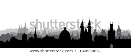 プラハ ベクトル シルエット 大聖堂 チェコ共和国 教会 ストックフォト © nebojsa78