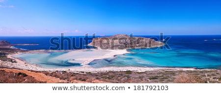 balos bay on crete island stock photo © elxeneize