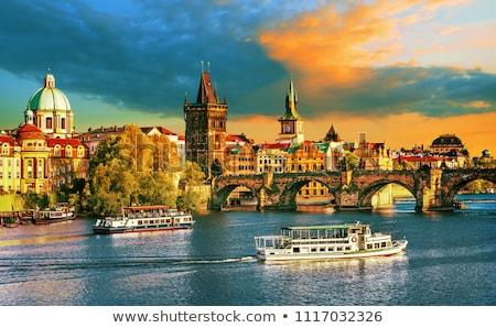 Kilátás Prága városkép város égbolt épület Stock fotó © Roka