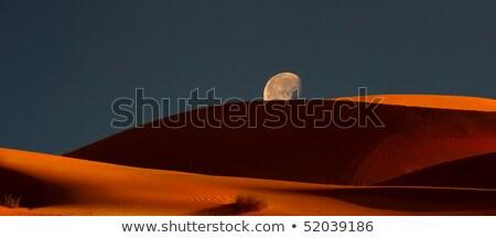 青 砂 デジタル複合 月 砂丘 ストックフォト © DonLand