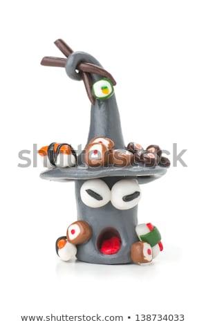 Handmade modeling clay sushi figure Stock photo © Zerbor